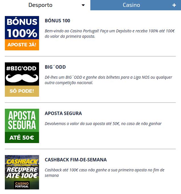 Bonus Apostas Casino Portugal