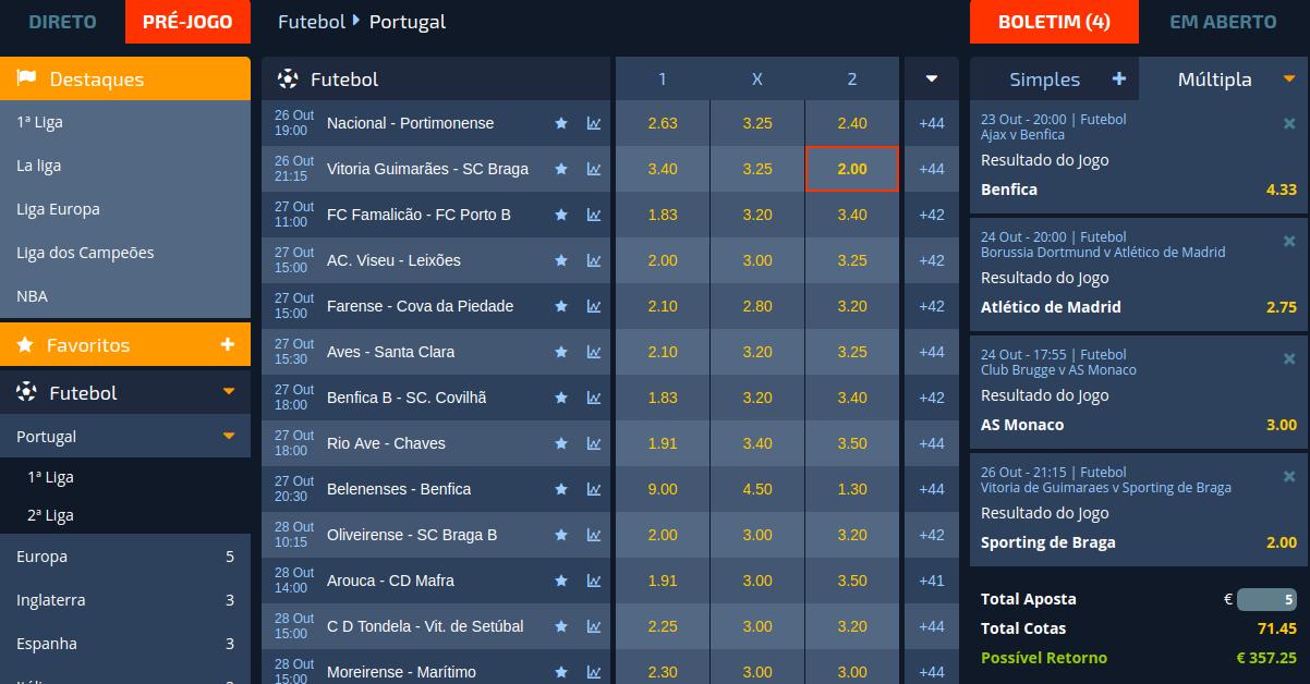 Apostas Online Casino Portugal