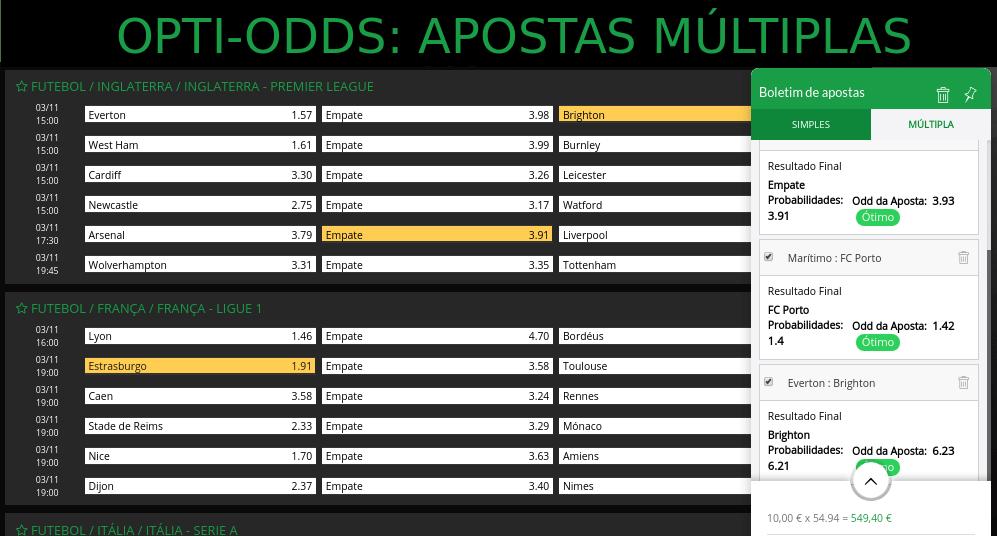 ESC Apostas Opti-Odds