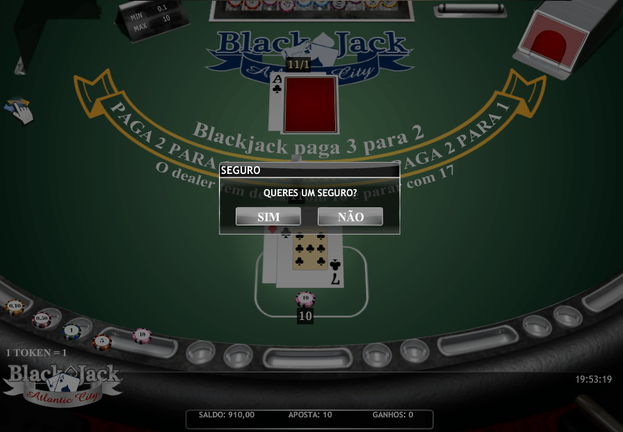 Blackjack Seguro