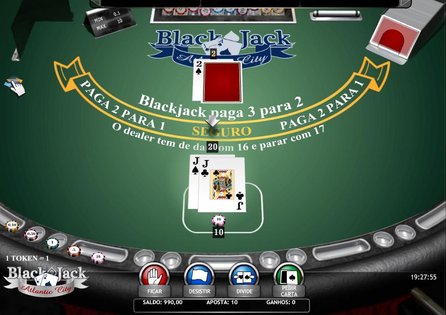 Blackjack Dividir o Jogo