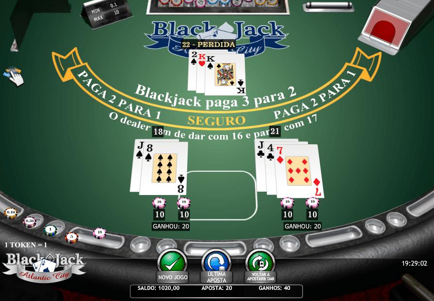 Blackjack split vitórioa