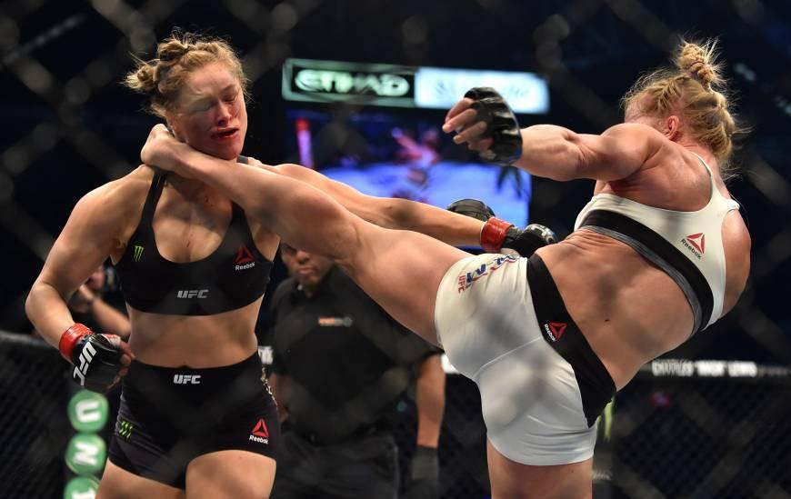 Rousey vs Holm KO