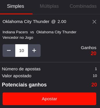 Aposta Basquetebol - Oklahoma City Thunder