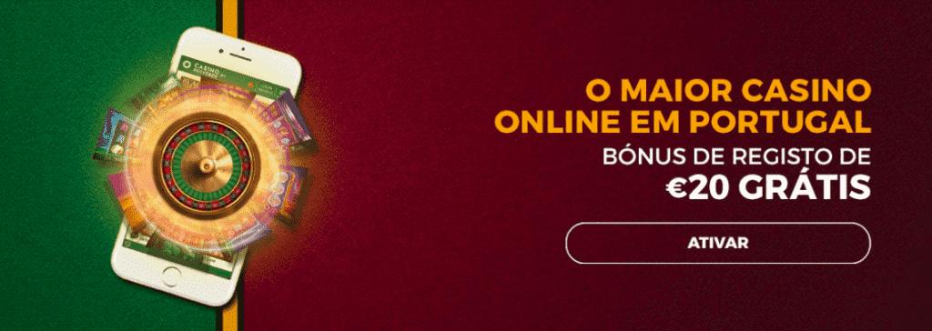 bonus sem deposito 20€ casino solverde online