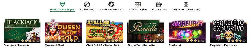 variedade de jogos casino solverde online
