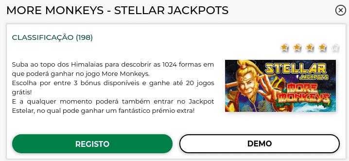 Slot More Monkeys - versão demo