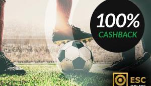 CASHBACK 100% em Qualquer Jogo de Futebol