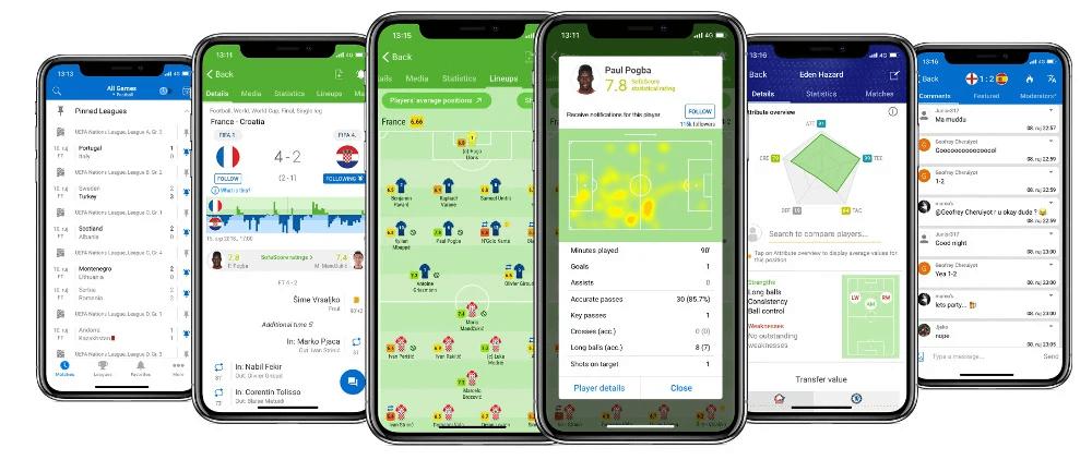Apps de Resultados Desportivos