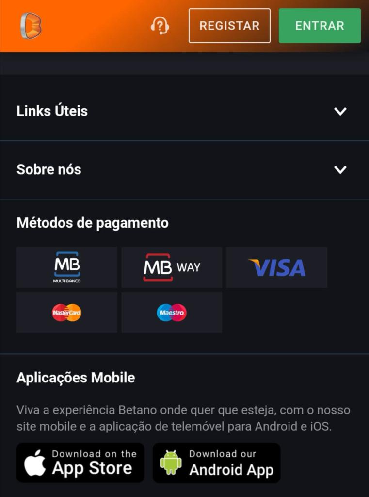 app betano iOs Android