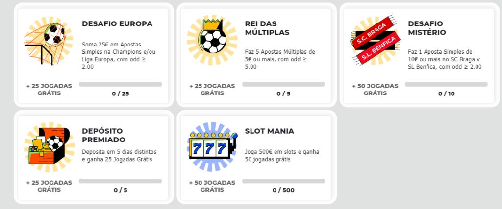 Bet.pt Desafios Semanais - Apostas Desportivas