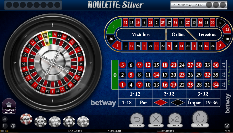 Roulette Silver Betway