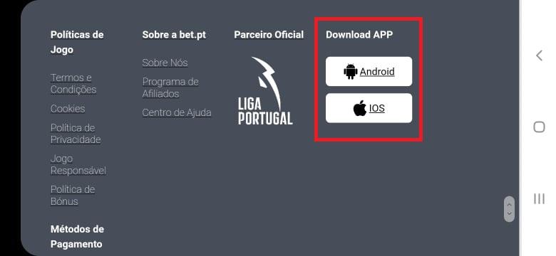 Bet.pt App Download Novo