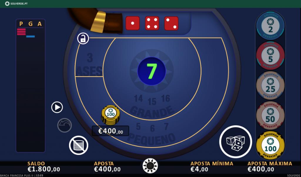 Jogar Banca Francesa Online na Solverde