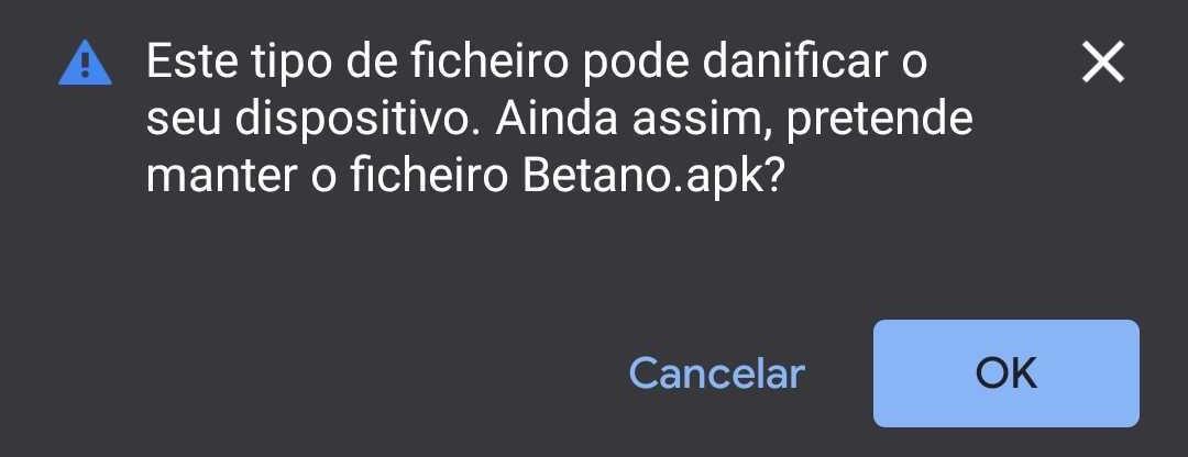 Download da App Betano - Autorização da Transferência