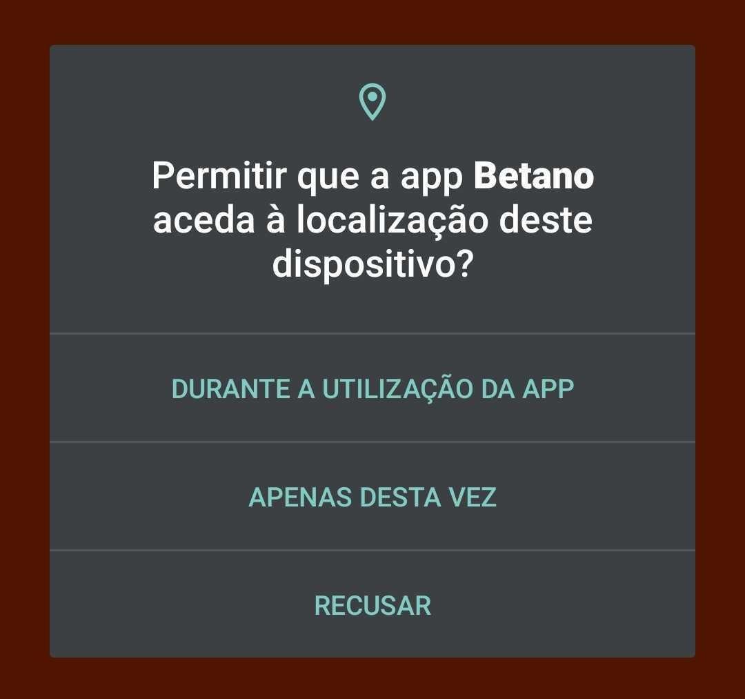 Download da App Betano - Localização